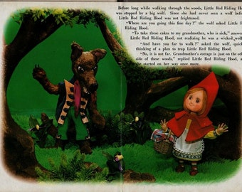 Little Red Riding Hood My Tiny 3-D Book Series - Rose Art Studios - Vintage Kids Book
