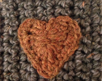 Mink Brown and Rust Coffee Cup Cozy Sleeve, Crochet Tea, Latte Cozie