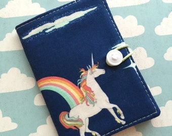 Unicorn - Small Wallet - Business Card Holder / ID Case / Photo Holder
