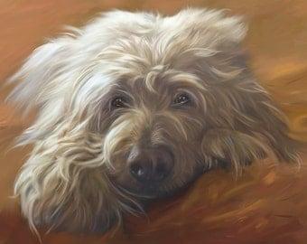 Custom Pet Portrait,custom dog portrait, digital oil painting, from your photo, realistic  pet art, pet memorial, lifelike pet portrait