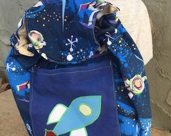 Big Kid Sized Backpack - buzz lightyear spaceship