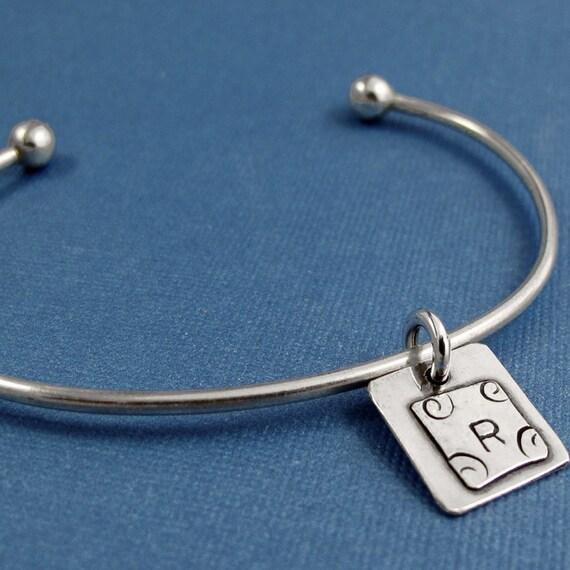 Initial Charm Bracelet - Sterling Silver Charm Bracelet