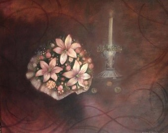 Custom Painting of Wedding Bouquets