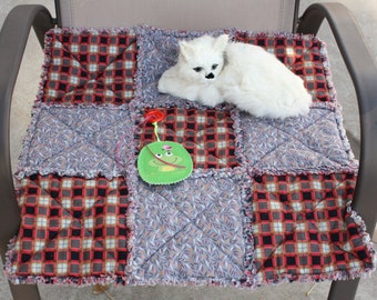 Cat Blanket, Cat Quilt, Small Dog Blanket, Pet Blanket, Crate Mat, Travel Pet Blanket, Luxury Cat Bed, Colorado Catnip Bed, Fabric Cat Bed