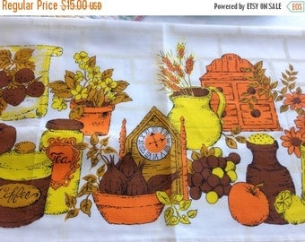 40% FLASH SALE- Vintage Retro Curtains-Seventies Kitchen-Like New
