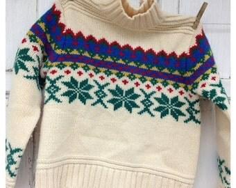 40% OFF FLASH SALE- Vintage Limited Wool Sweater-100 Percent Wool
