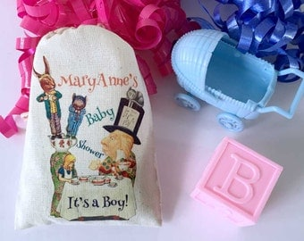 Alice in Wonderland Tea Party Baby Shower Favor Bags | Onederland Party 3x5 | 4x6 | 6x8 Personalized Customized Full Color Illustrations 10