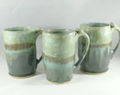 Big Green Pottery Mug, IN STOCK,  Lichen Green Teacup, Unique Coffee Mugs, Ceramic Mug, Large Pottery Coffee Mug, Ceramic Coffee Cup