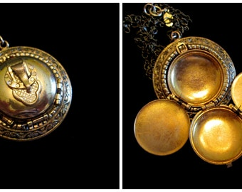 Unbuckled- Vintage Gold Filled 4 Picture Locket