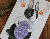 "Original Easter Bunny Egg painting, ""Easter Rabbit, Dutch"""