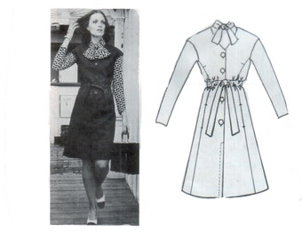 70s  Fit and Flare Dress pattern CA Couture pattern Aline dress pattern vintage 34-25.5-36 Helga Blouse pattern California Couture 5801
