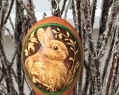 Bunny Rabbit Tree Ornament egg gourd
