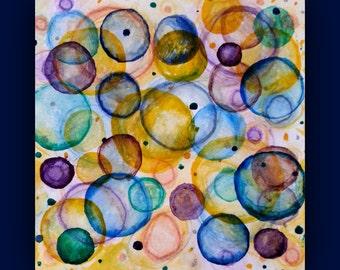 Watercolor Circles, Original painting