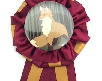Fox Rosette Wine x Gold