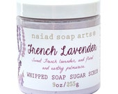 French lavender Whipped Soap Sugar Scrub - Cruelty Free and Vegan