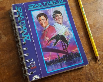 Star Trek IV Journal made with recycled vhs cover