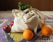 Grocery Totebag Made of Natural Cotton Fabric