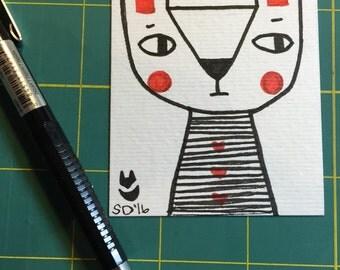 Miniature Drawing : Bunny
