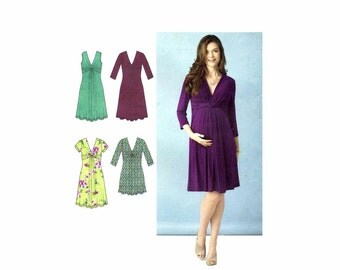 Maternity Knit Dress or Mini Dress Simplicity 1360 Sewing Pattern Size 8 - 10 - 12 - 14 - 16 Bust 31 1/2 - 32 1/2 - 34 - 36 - 38 Uncut