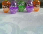 Personalized Easter Eggs and Carrots - Easter Eggs Hunt Favor - Set of 2 - Purple Blue Green or Carrots