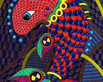 Fish Fish 2 Original Drawing