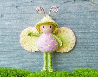 Spring Bug Bendy doll Pastel colors