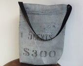 Repurposed Vintage Canadian Mint Money bag tote
