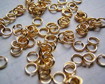 Gold Plated Jump Rings 0.8 mm 20 Gauge 5 mm Premium Quality 100 Rings
