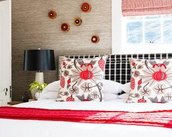 LARGE Tree Ring Painting, Rustic Home Design, Red Art, Wood Wall Art, Circle Painting, Scandinavian Art, Mid Century Modern Wall Art