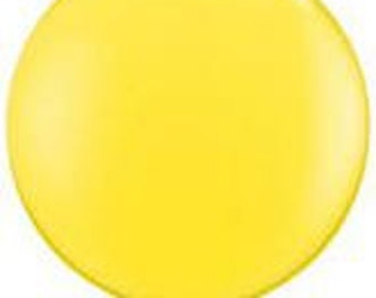 """1- 36"""" Yellow Round Qualatex Brand Balloon"""