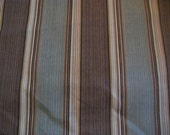 Outdoor Stripe Fabric - BTY- Shades of Brown and Green