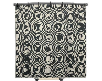 retro shower curtain black shower curtain shower curtain fabric shower curtain black