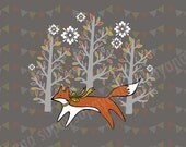 Fox art print for kids' rooms and nurseries Supayana