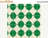 SALE RARE Anna Maria Horner Field Study Collection Coordonites Dots Cotton Fabric by the half yard Kelly Green White