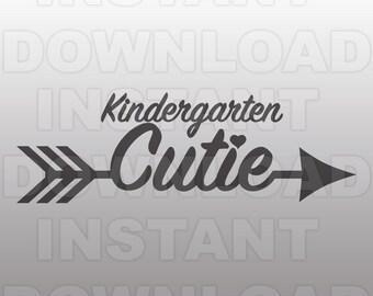 Kindergarten Cutie SVG File -Back to School SVG File -Commercial & Personal Use- vector svg file,Cricut,svg file for Silhouette,vinyl cutter