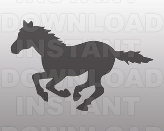Mustang SVG-Horse SVG-Pony svg-Cowboy svg-Rodeo svg-Cutting Template-Vector Clip Art for Commercial & Personal Use-Cricut,Cameo,Silhouette