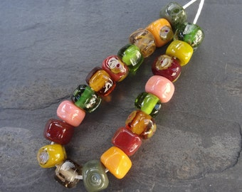 I like your smile nuggets - SRA handmade glass lampwork beads Lori&Kim