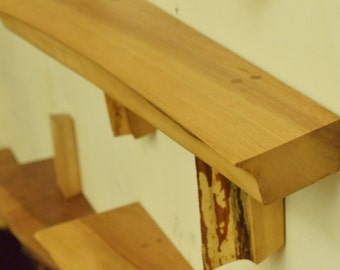 No. 56 - Thick Elm Live Edge Shelf