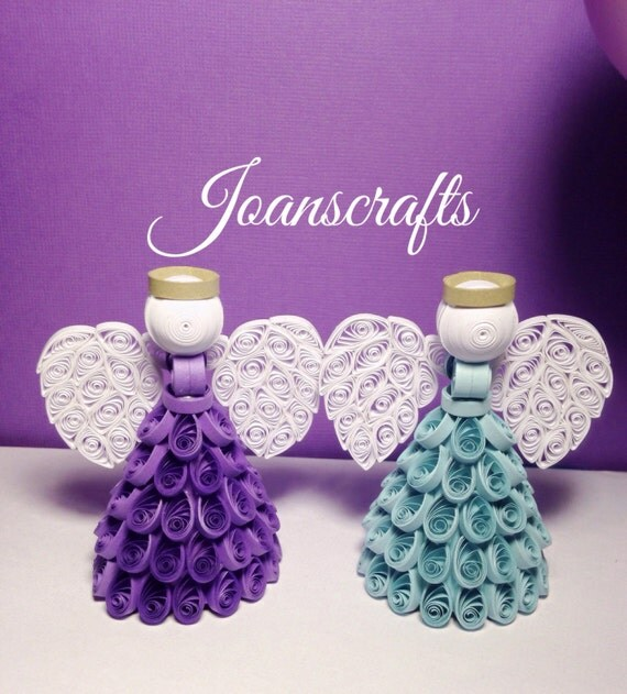Choose your color Quilled Angel Ornament or Topper