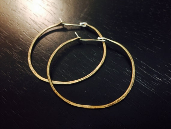 Medium Brass forged hoops