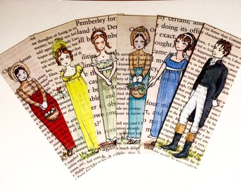 Jane Austen Bookmarks Gift Set - Set of 6