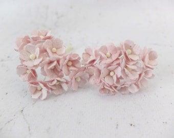 20 light mauve mulberry paper hydrangea - paper flowers