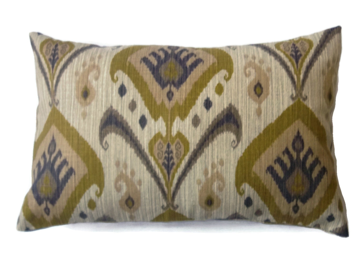 Decorative Lumbar Pillows Green : Decorative Lumbar Pillow Cover Olive Green Taupe Brown Same