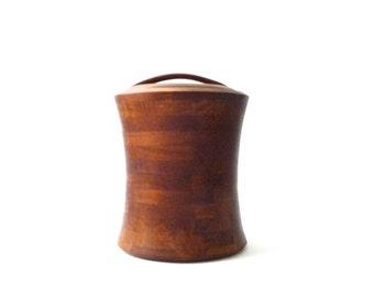 SUMMER SALE Modernist Teak Ice Bucket        Quistgaard Dansk Digsmed Danish Modern