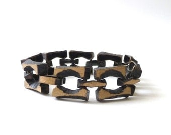 Modernist Bronze Bracelet by Sten and Laine Brutal Brutalist