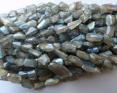 Labradorite Nugget Beads, Freeform Faceted Labradorite Beads, Laser Cut Labradorite Nuggets, Flashy Labradorite Beads, Gray Labradorite, AAA