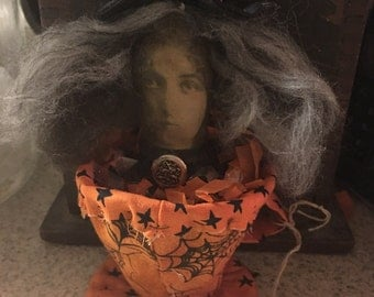 Primitive Doll, Halloween, Witch, Witches Brew