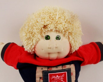 Vintage soft sculpt cabbage patch doll 1991 Boy