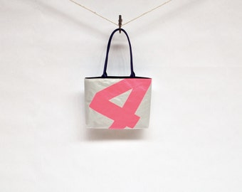 Recycled Sail Purse - Florescent Pink Number 4