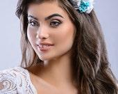 Orphelia Flower Bridal Headband, Flower Wedding Headpiece